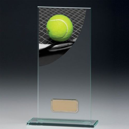 Colour Curve Tennis Jade Glass Award 160mm